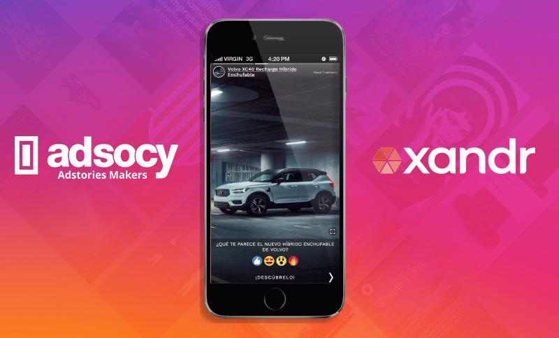 Adstory, la nueva solución de publicidad en 'stories' de Xandr y Adsocy
